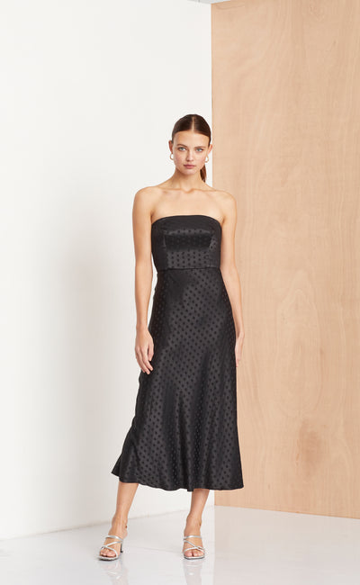 DOTTIE RAY STRAPLESS DRESS - BLACK