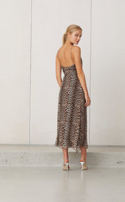 KITTY KAT SLIP DRESS - LEOPARD PRINT