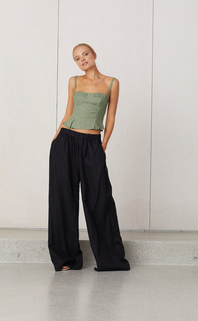 NATUREL ELASTIC PANT - BLACK