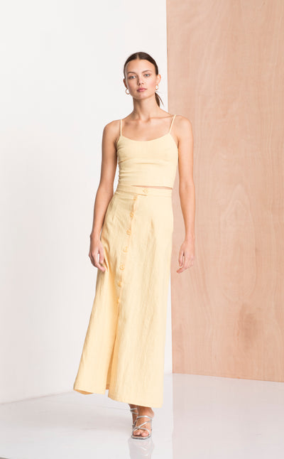 SWEET PEA MIDI SKIRT - HONEY
