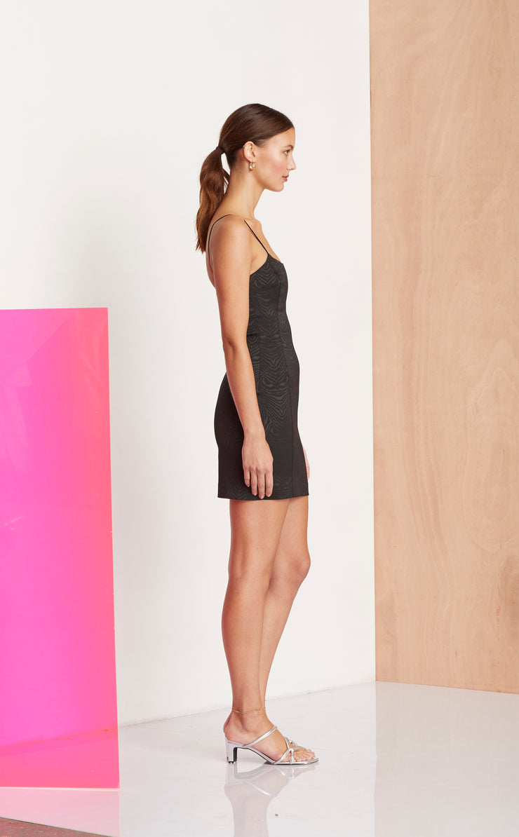 ZE'BRE MINI DRESS - BLACK