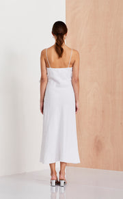 NATUREL WRAP DRESS - IVORY