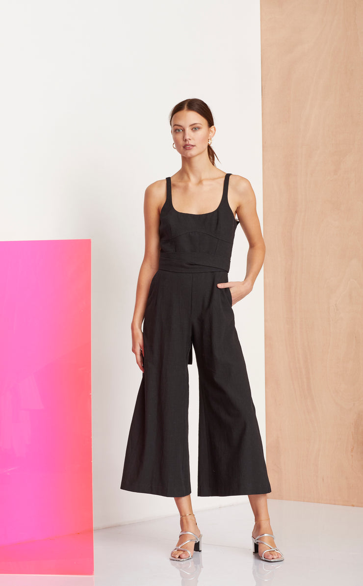 SALUT JUMPSUIT - BLACK