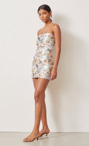 FLEURETTE JACQUARD MINI DRESS - PRINT