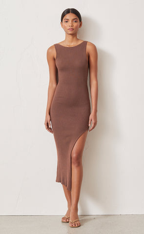 RIVIERA KNIT MIDI DRESS - CEDAR