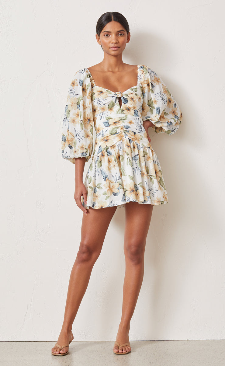 FLEURETTE MINI DRESS - PRINT