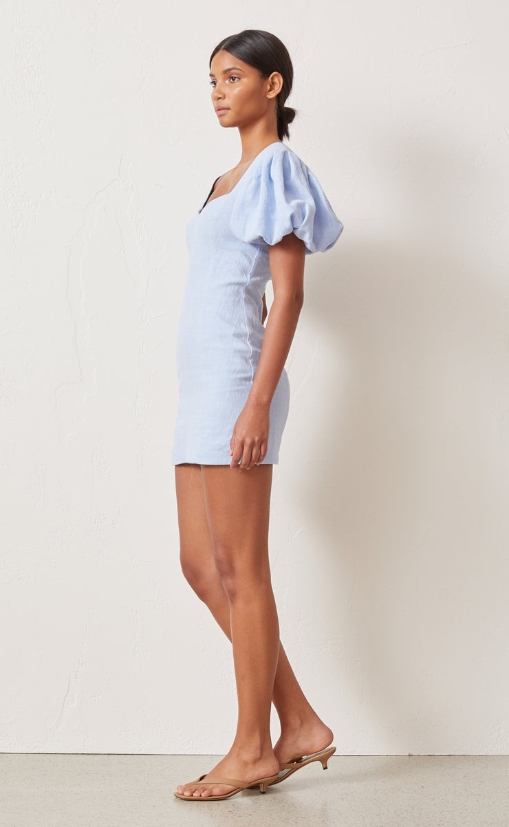 ANIKA MINI DRESS - SKY BLUE