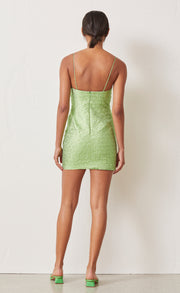 APPLE MINI DRESS - LIME