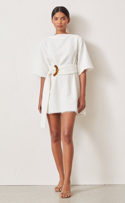 OLLIE MINI DRESS - IVORY
