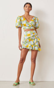 PALM PARADISE MINI SKIRT - PRINT