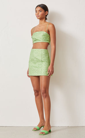 APPLE MINI SKIRT - LIME