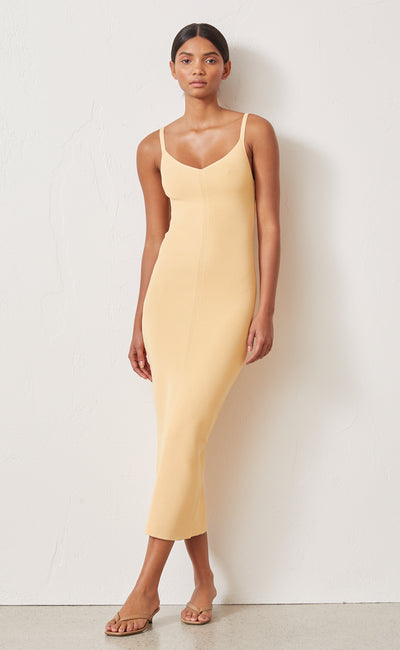 CITRUS CLUB KNIT MIDI DRESS - MELON