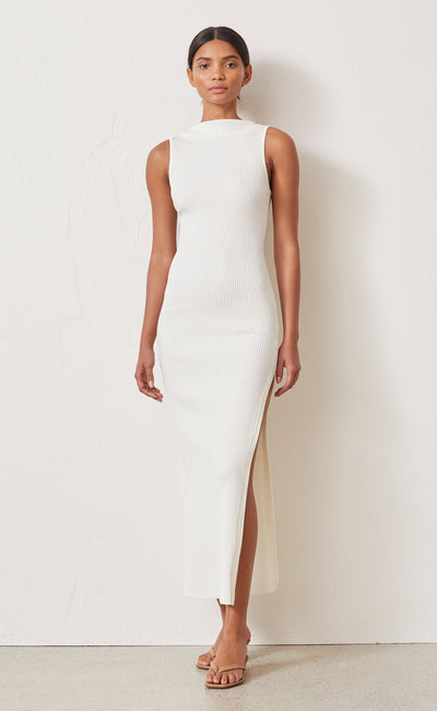 NOIR ET BLANC MIDI DRESS - IVORY