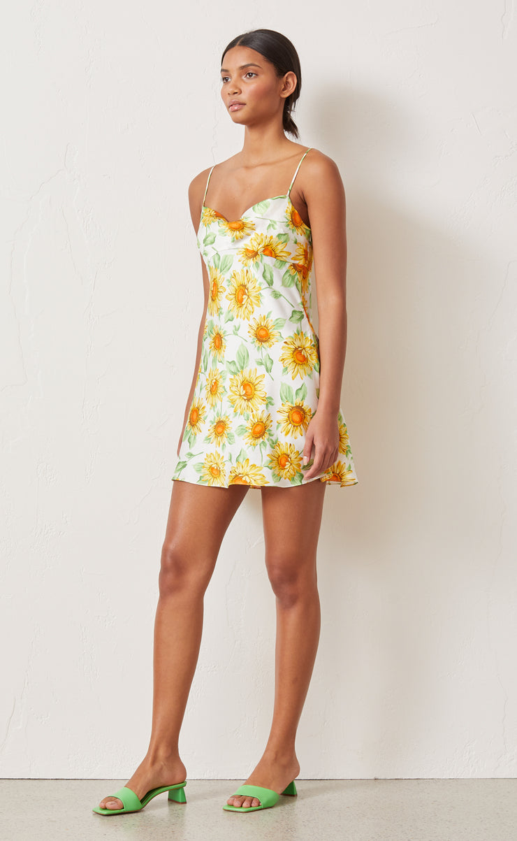 FRANCINE SILK MINI DRESS - PRINT