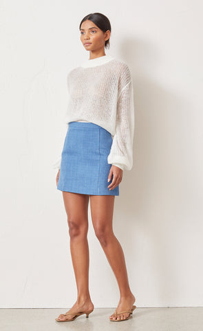 SEBASTIAN MINI SKIRT - DENIM BLUE