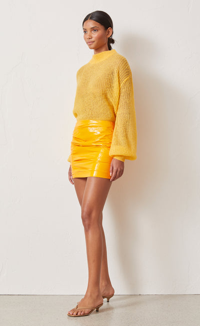 CITRUS CITY MINI SKIRT - TANGERINE