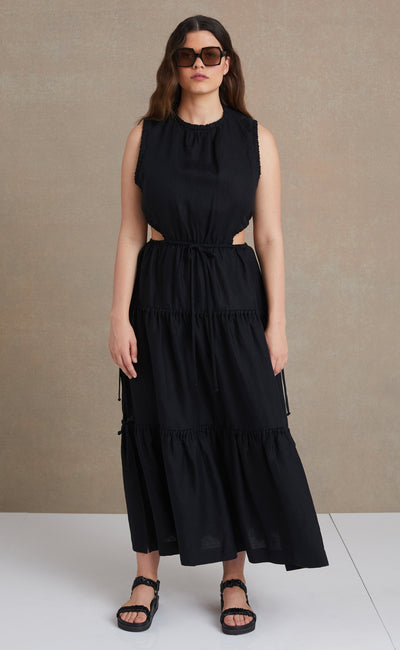 HENRIETTE MAXI DRESS - BLACK