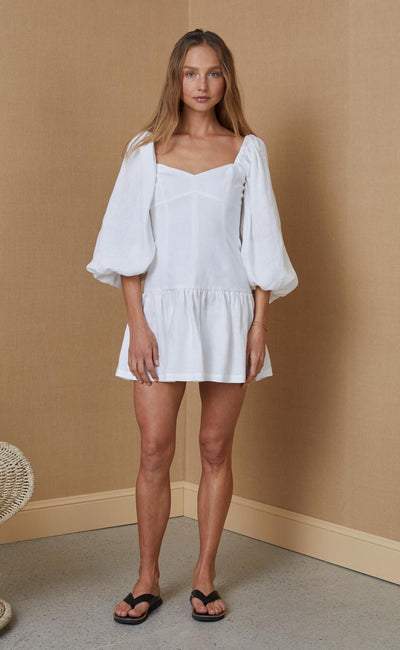 HENRIETTE MINI DRESS - IVORY