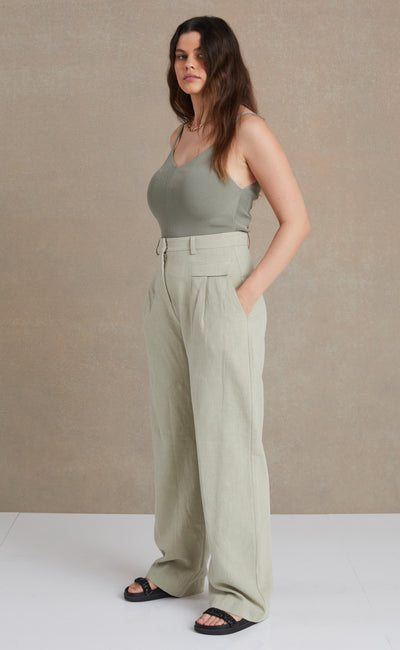 PHOEBE PANT - LIGHT KHAKI
