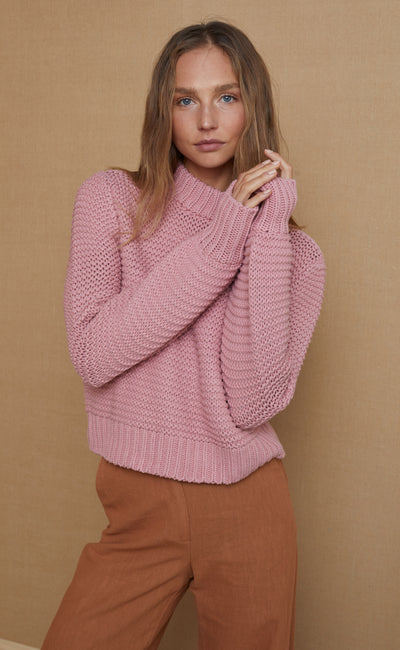 ELSA KNIT JUMPER - BLUSH