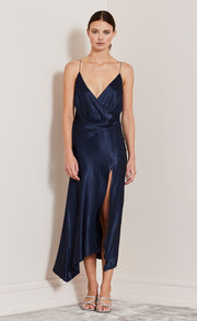 MOON DANCE WRAP DRESS - NAVY