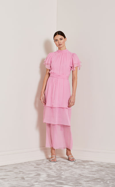 LOVE FOOL TIERED DRESS - PINK