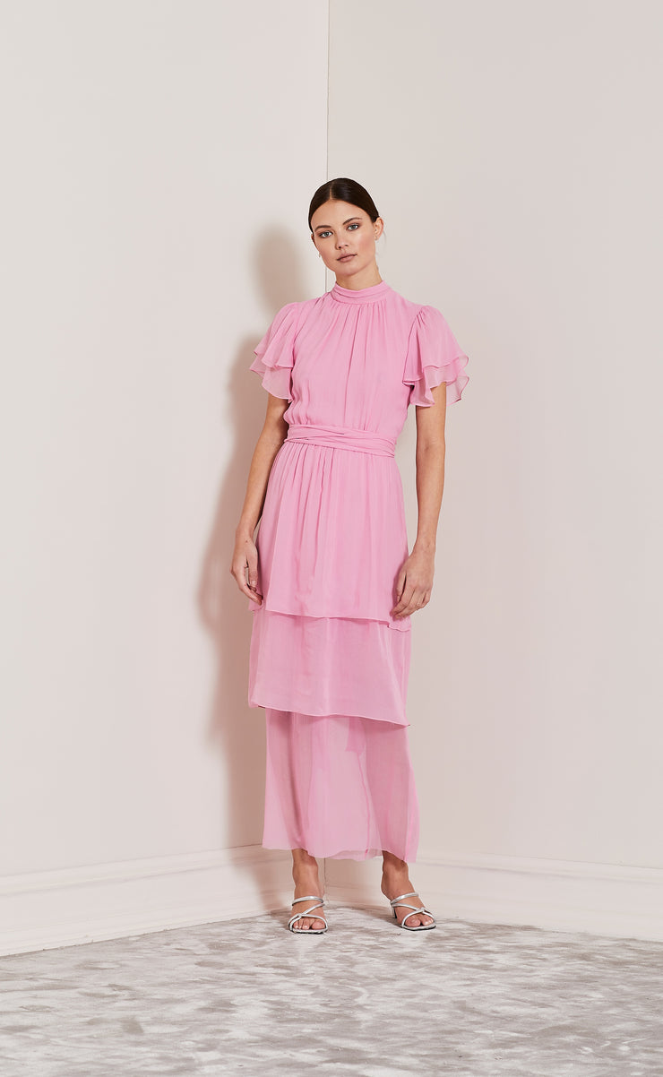 ENDLESS LOVE TIERED DRESS - PINK