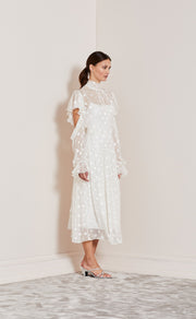 HEAVENLY LONG SLEEVE DRESS - IVORY