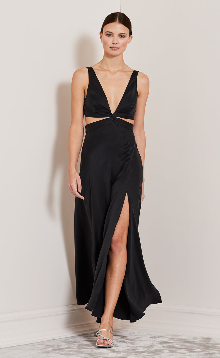 KISS ME CUT OUT DRESS - BLACK
