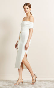 BE MINE OFF SHOULDER DRESS - IVORY