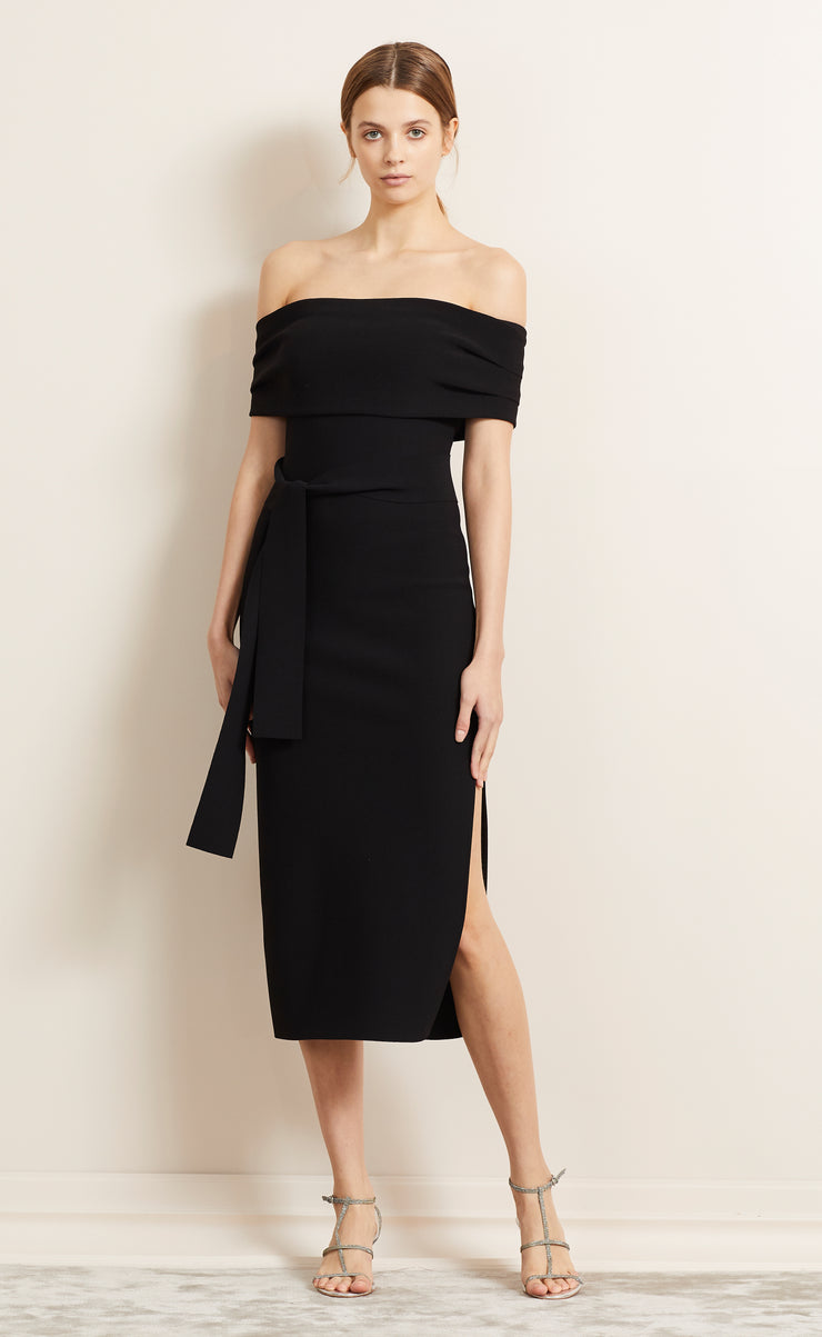 BE MINE OFF SHOULDER DRESS - BLACK