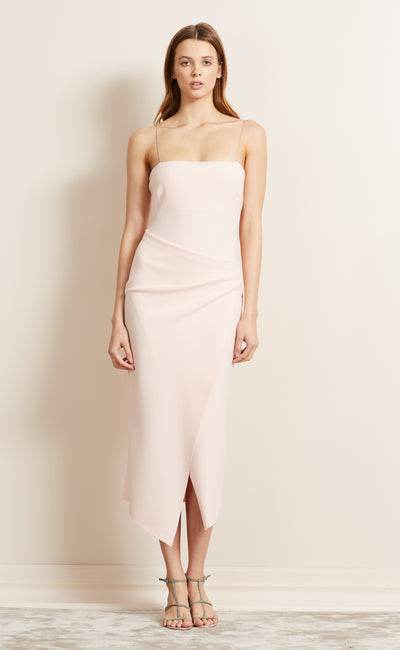 BE MINE FIXED WRAP DRESS - BLUSH