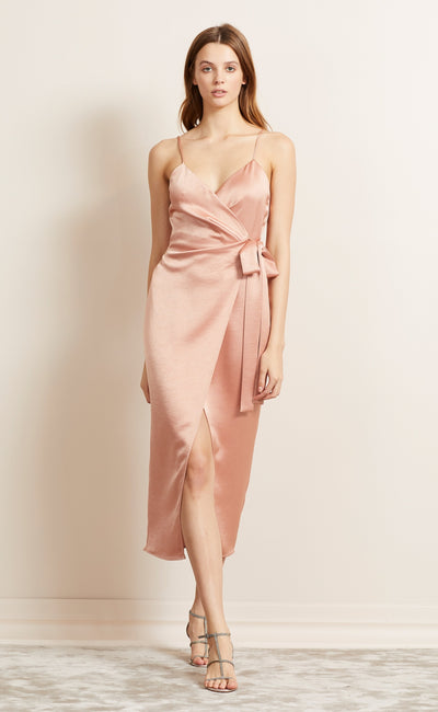 ALL NIGHT MIDI DRESS - BLUSH
