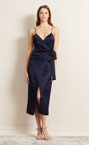ALL NIGHT MIDI DRESS - NAVY