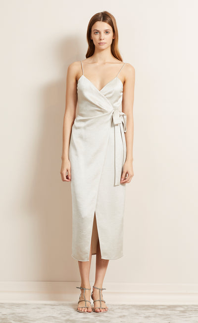 ALL NIGHT MIDI DRESS - CHAMPAGNE