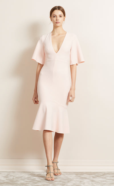 BE MINE V DRESS - BLUSH