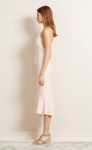 BE MINE FLUTE DRESS - BLUSH