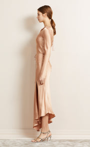 MOON DANCE L/S DRESS - DUSTY ROSE