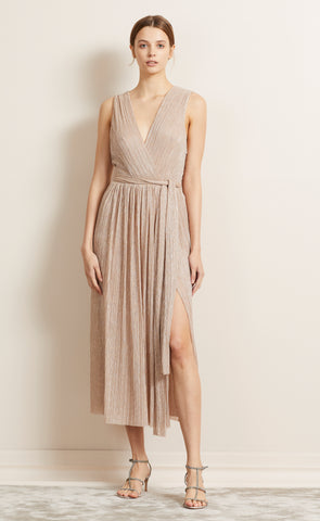 LADY SPARKLE MIDI DRESS - ROSE GOLD