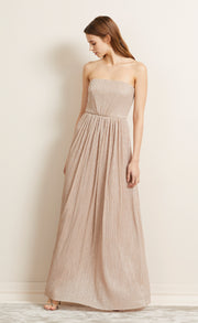 LADY SPARKLE STRAPLESS DRESS - ROSE GOLD