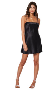 GIRL TALK MINI DRESS - BLACK