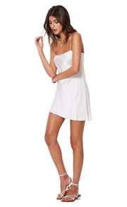 GIRL TALK MINI DRESS - IVORY