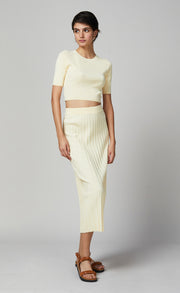 EDEN MIDI SKIRT - BUTTER