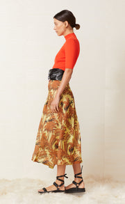 HALI SKIRT - BUTTER PALM