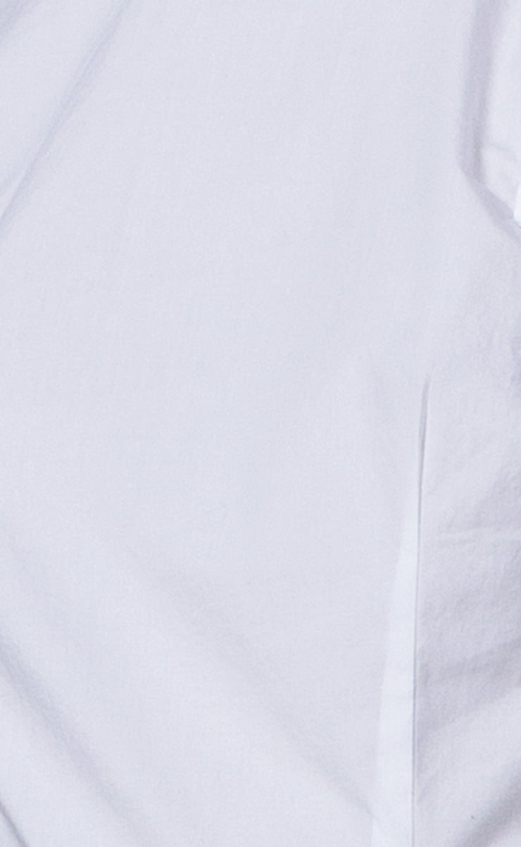 LOUIS HIGH NECK SHIRT  - WHITE
