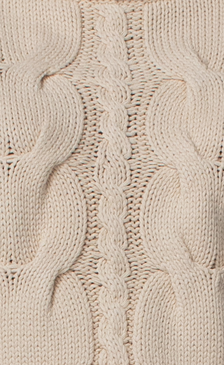ELSA CABLE KNIT JUMPER - OATMEAL