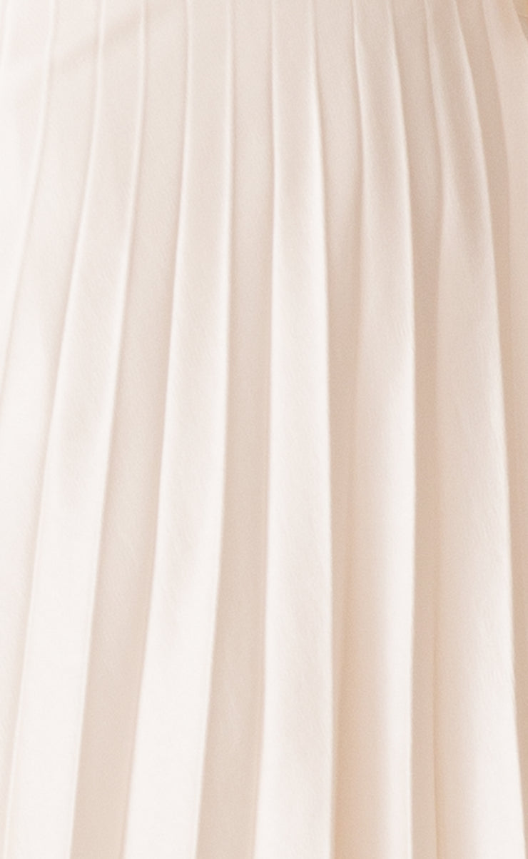PIPER PLEATED MIDI SKIRT - IVORY