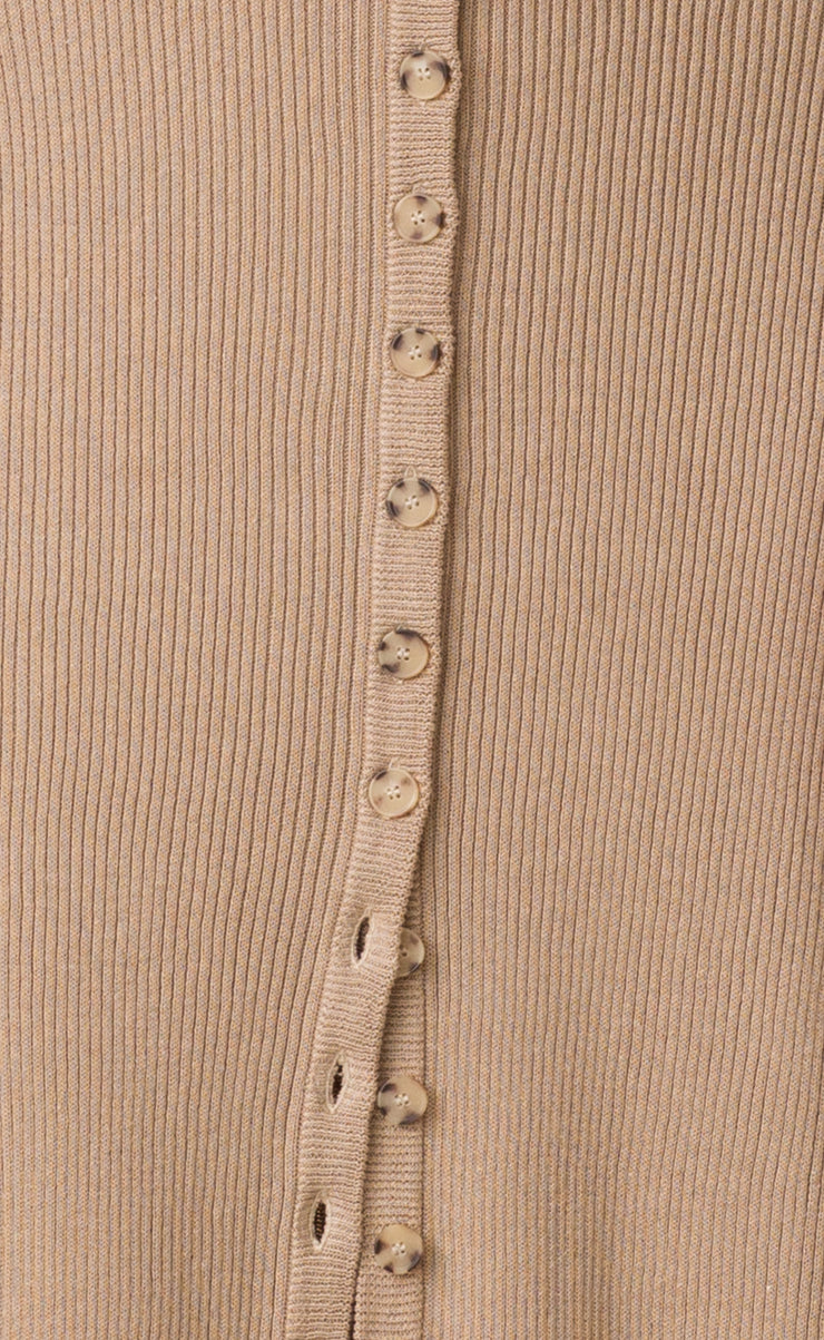 SANDY BUTTON UP MIDI  - BEIGE