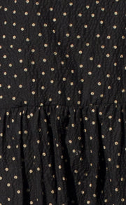 TALIA MAXI SKIRT - BLACK BASED SPOT