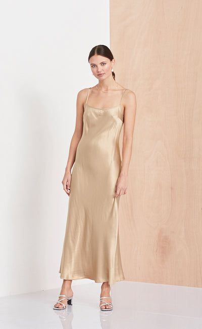 SLIP DRESS  - GOLD